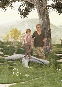 Gesundheitskommunikation, Ältere Frau hält die Hand eines Jungen