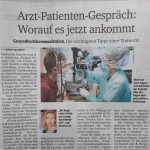Arzt-Patienten-Gespräch: Worauf es jetzt ankommt